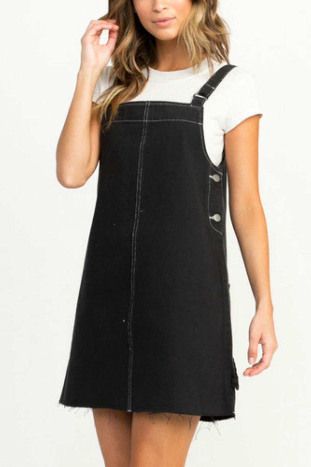 Rvca Neo Pinny Dress From Providence By Queen Of Hearts And Modern Overall Set Front Cropped Image