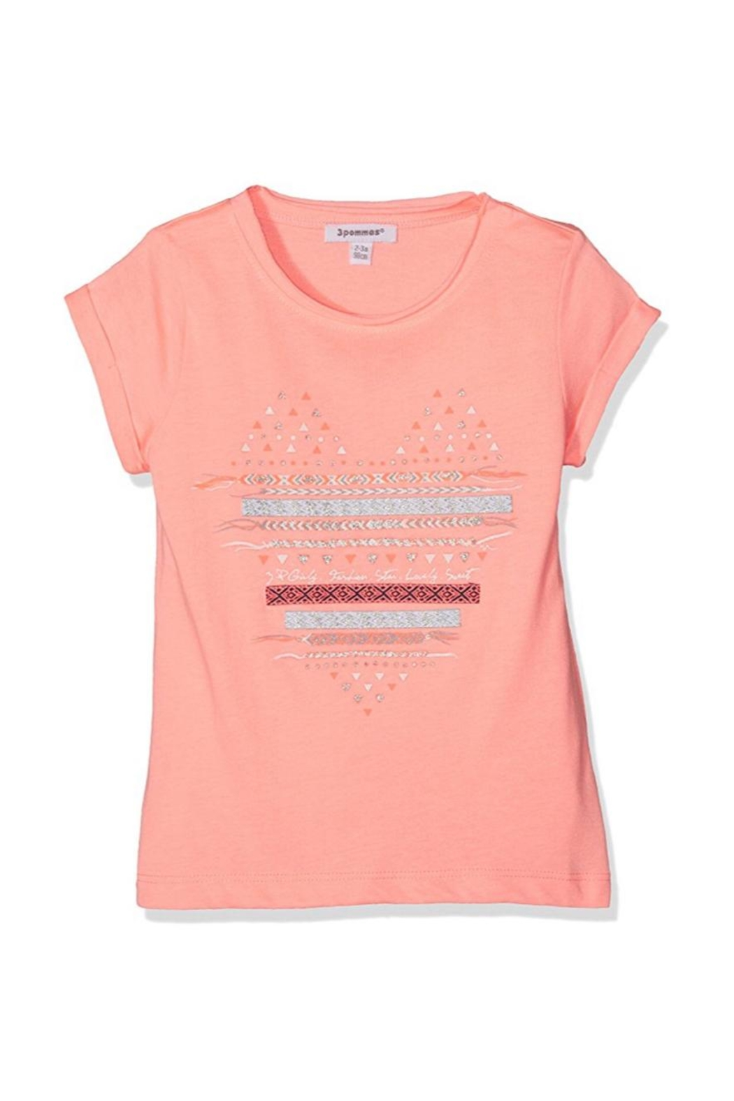 3 Pommes Neon Beach Tee - Front Cropped Image