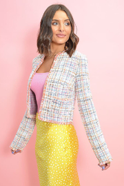 BB Dakota  Neon Belief Tweed Jacket - Product Mini Image