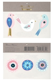 Meri Meri Neon Birds Tattoos - Product Mini Image