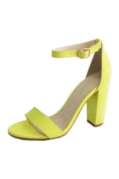 Bamboo Neon Block Heels - Alternate List Image