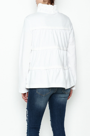 Neon Buddha White Ruffle Jacket - Back cropped