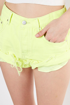 Mustard Seed  Neon Distressed Denim Short - Product List Image