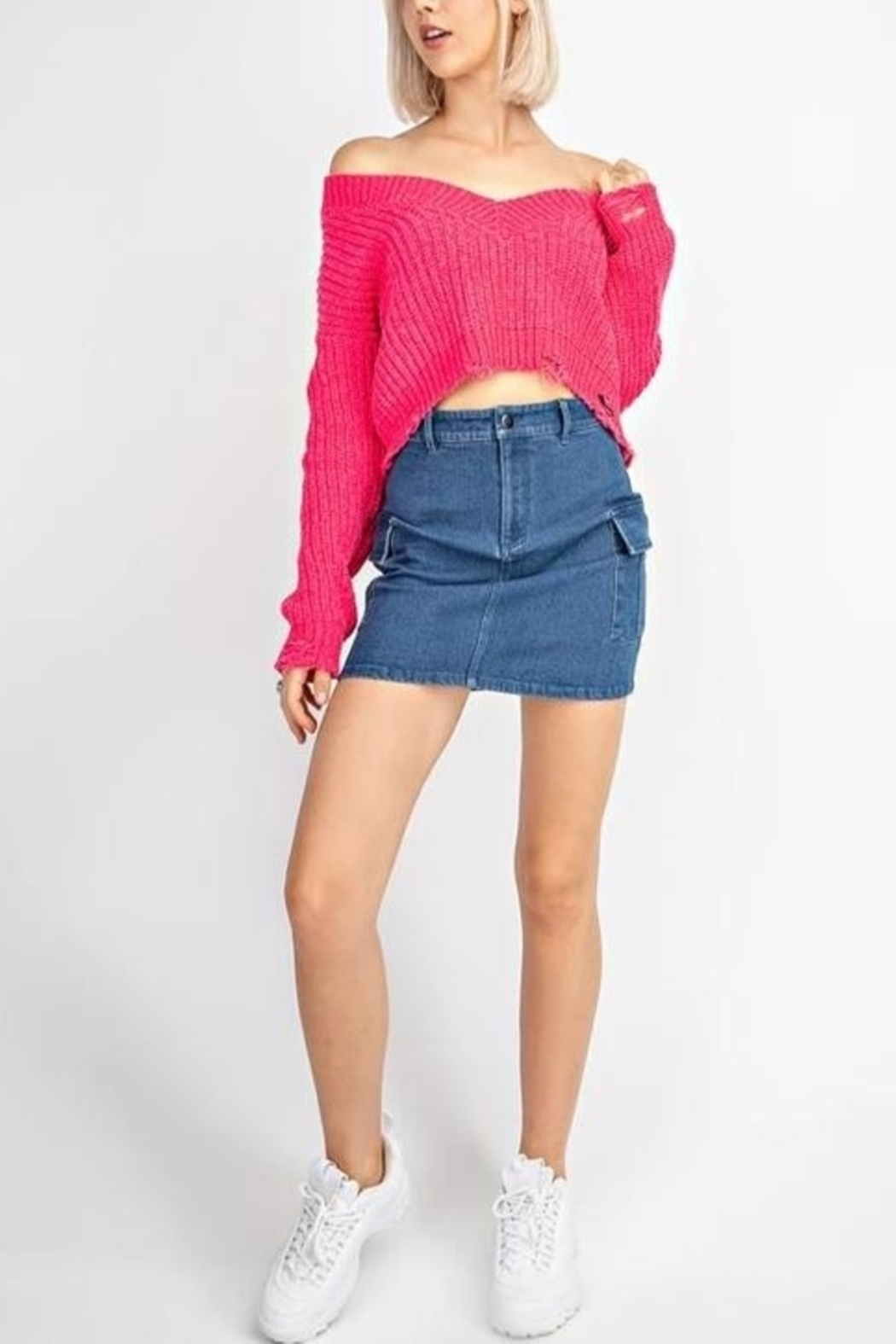 Le Lis Neon Fun  sweater - Front Cropped Image