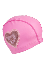 Bling2o Neon Heart Swim Cap - Front cropped