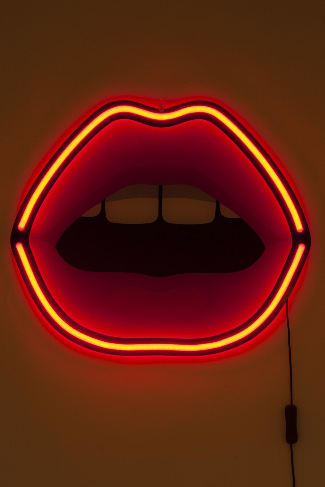 Seletti Neon Lamp Mouth - Front Full Image