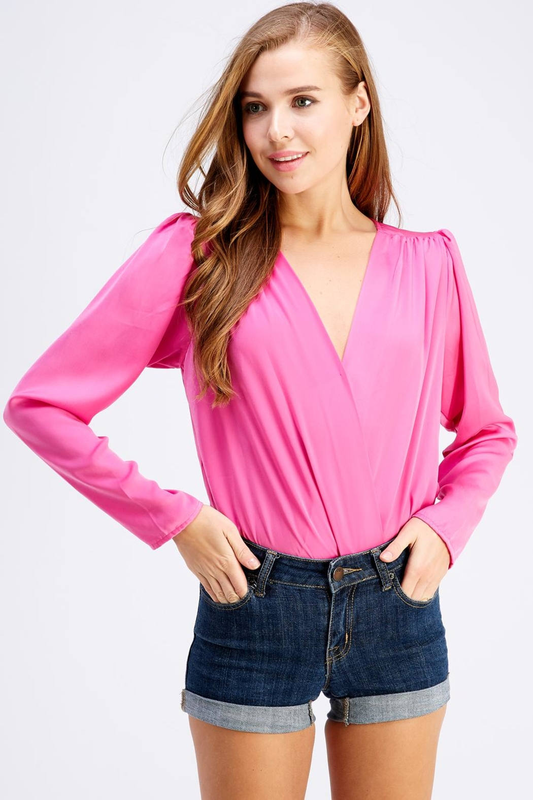 Do & Be Neon Long-Sleeve Bodysuit - Front Cropped Image