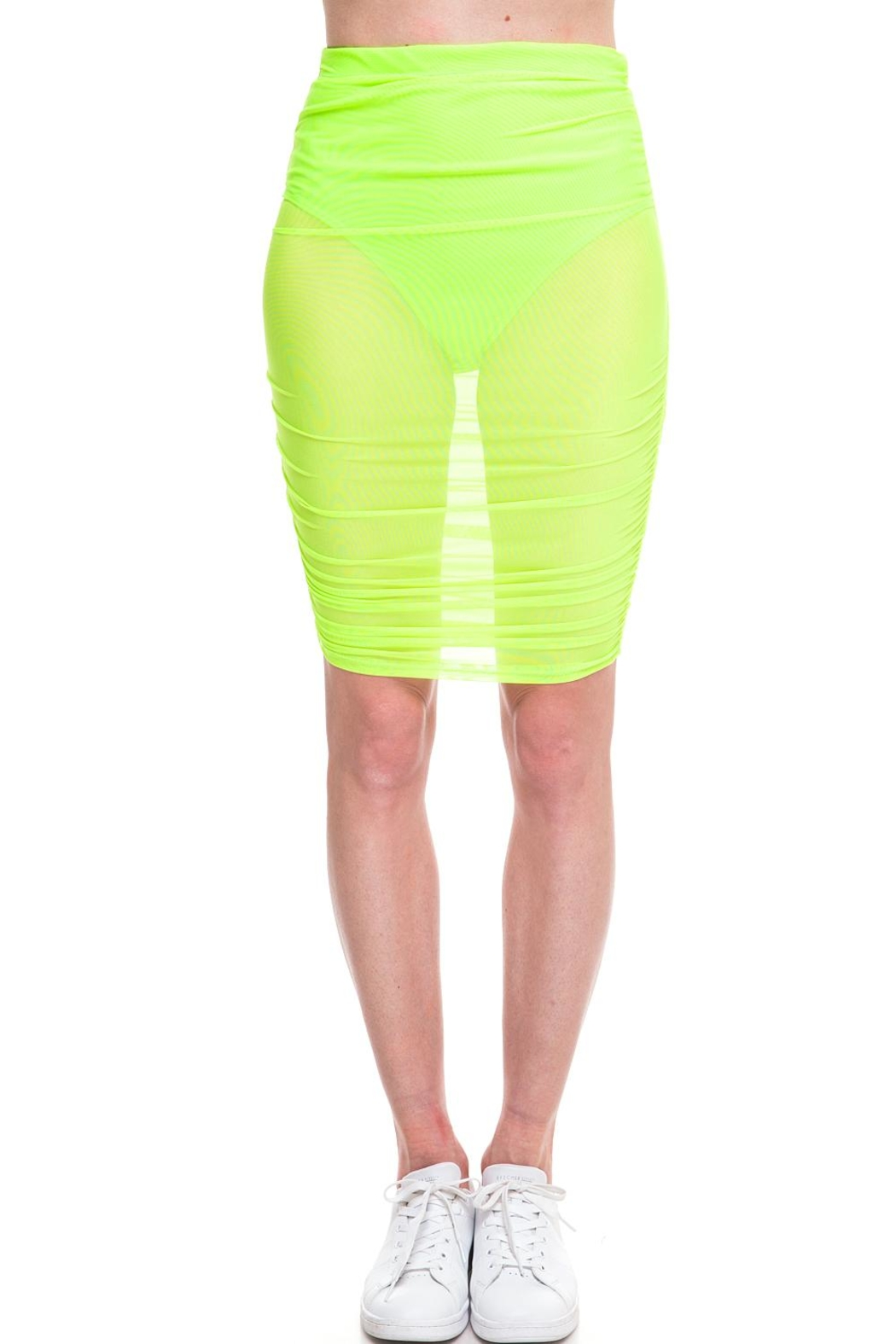 Cleo Neon Mesh Skirt - Front Cropped Image