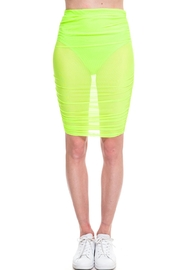 Cleo Neon Mesh Skirt - Front cropped