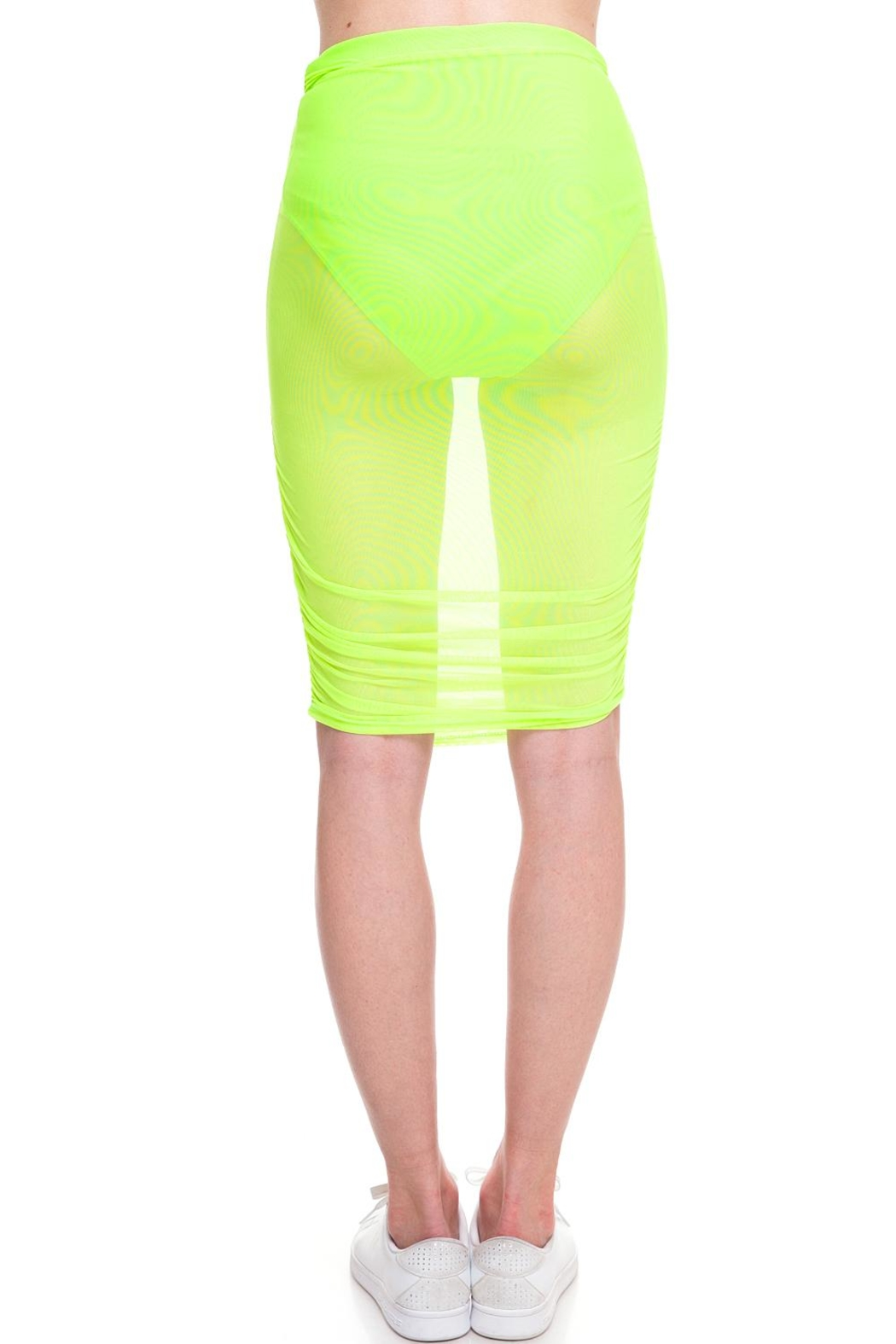 Cleo Neon Mesh Skirt - Back Cropped Image