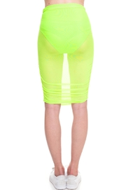 Cleo Neon Mesh Skirt - Back cropped