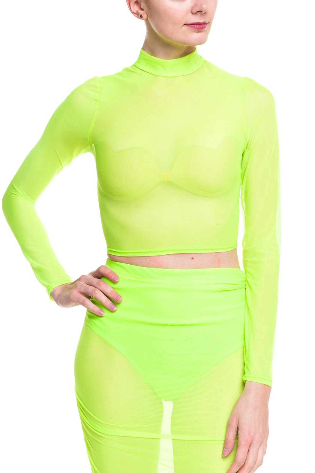 4adf185921c3 Cleo Neon Mesh Top from New York by Dor L Dor — Shoptiques