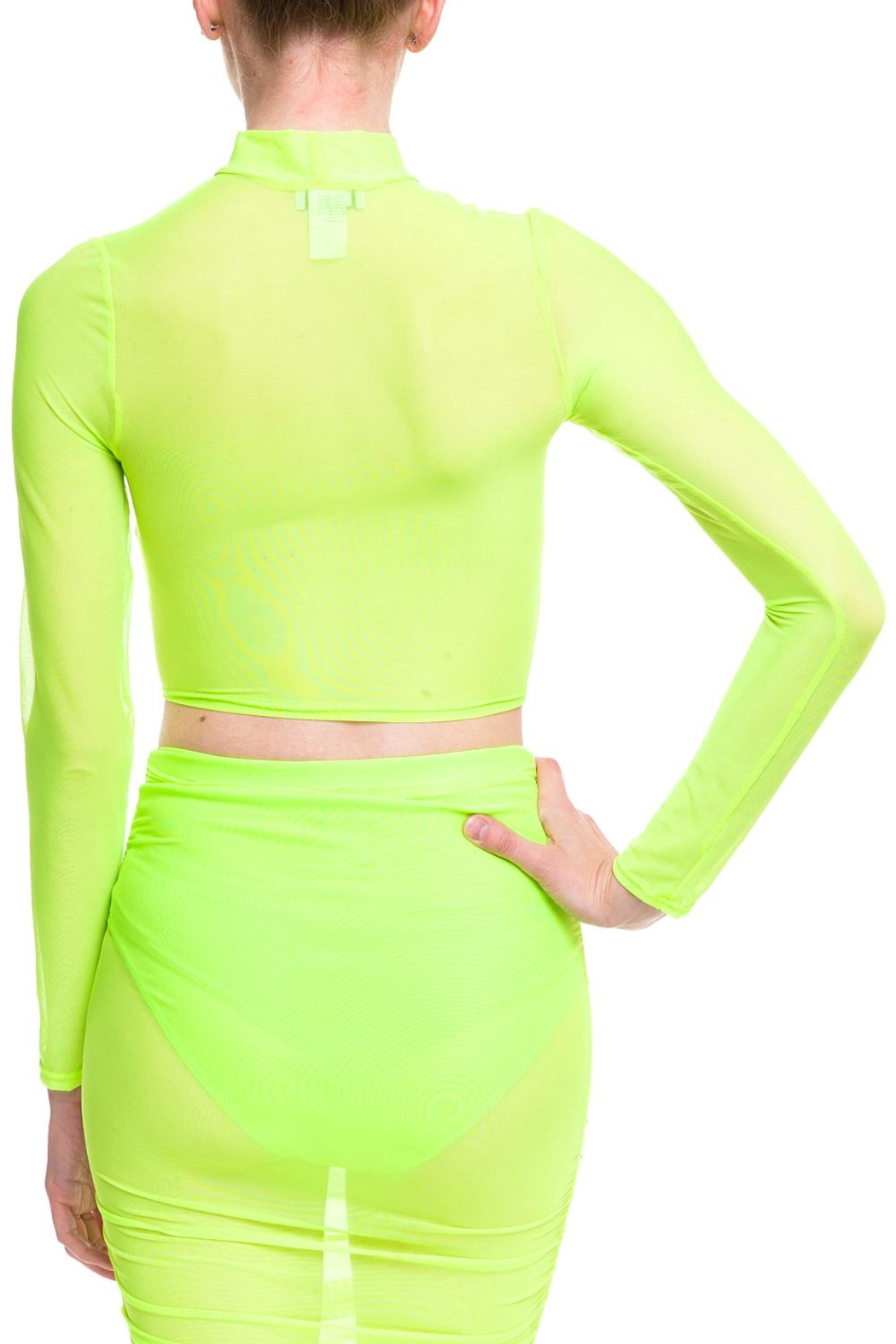 Cleo Neon Mesh Top - Side Cropped Image