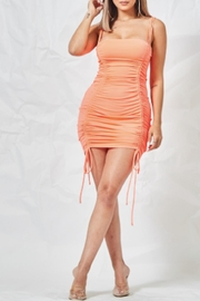 TIMELESS Neon Orange Dress - Front cropped