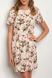 Le Lis Neon Pink Dress - Front cropped