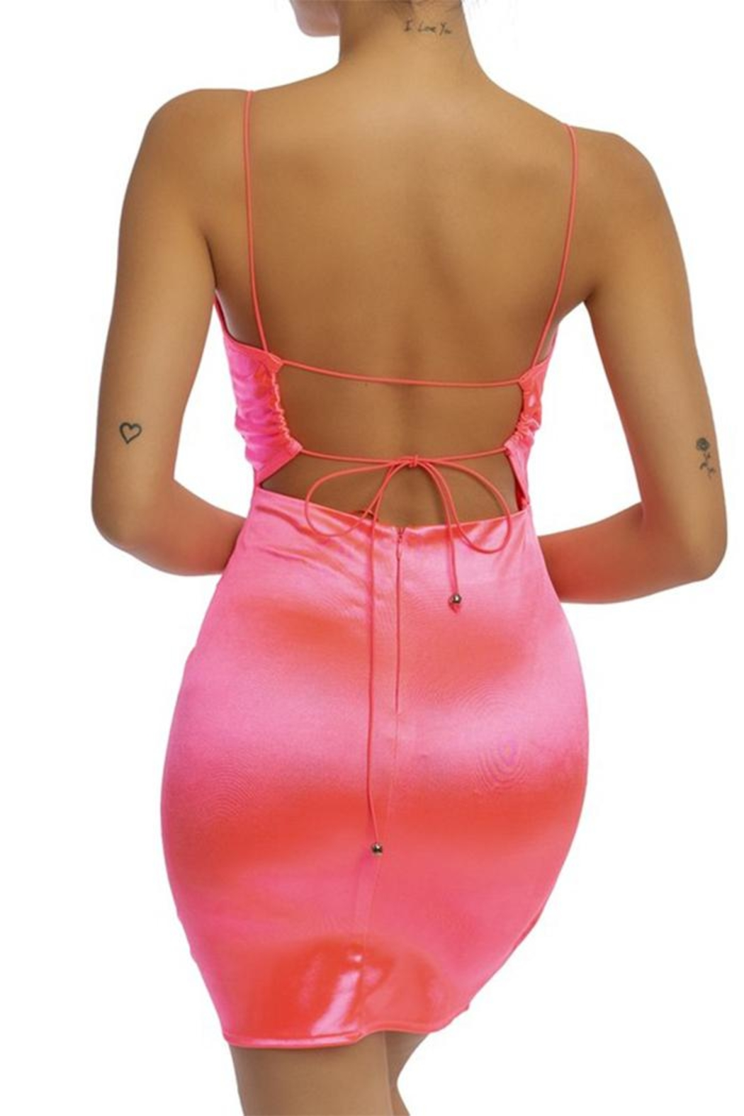 luxxel Neon Pink Dress - Front Full Image