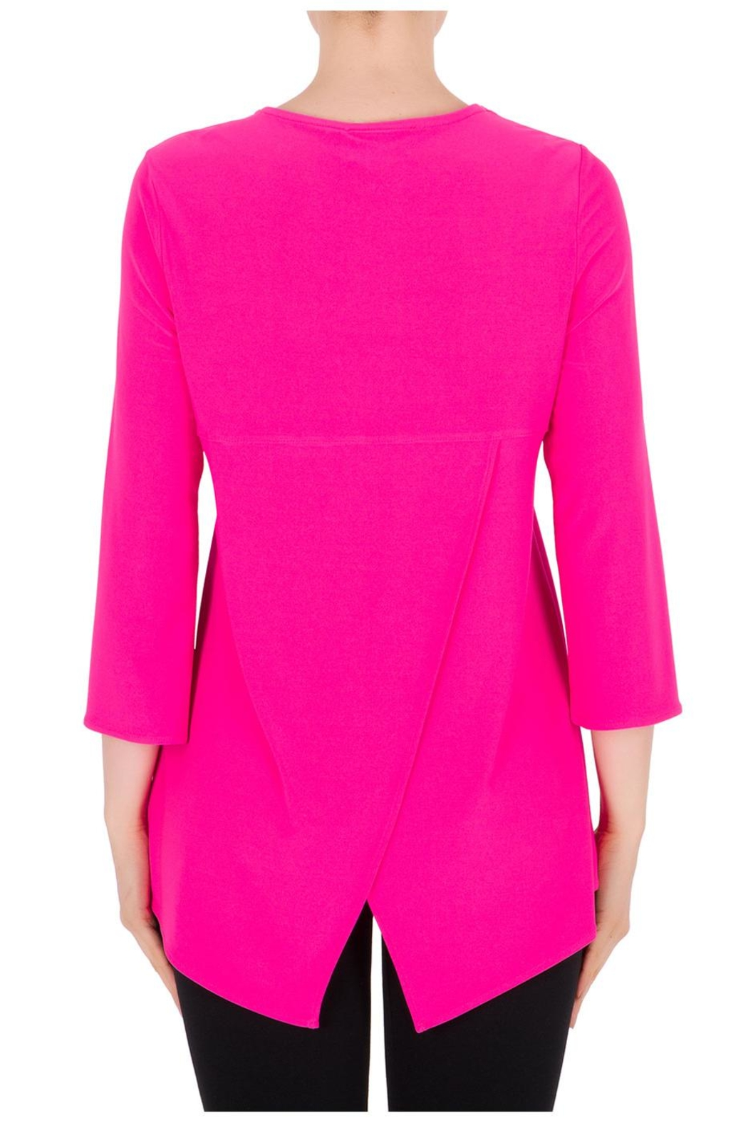 Joseph Ribkoff Neon Pink Top - Side Cropped Image