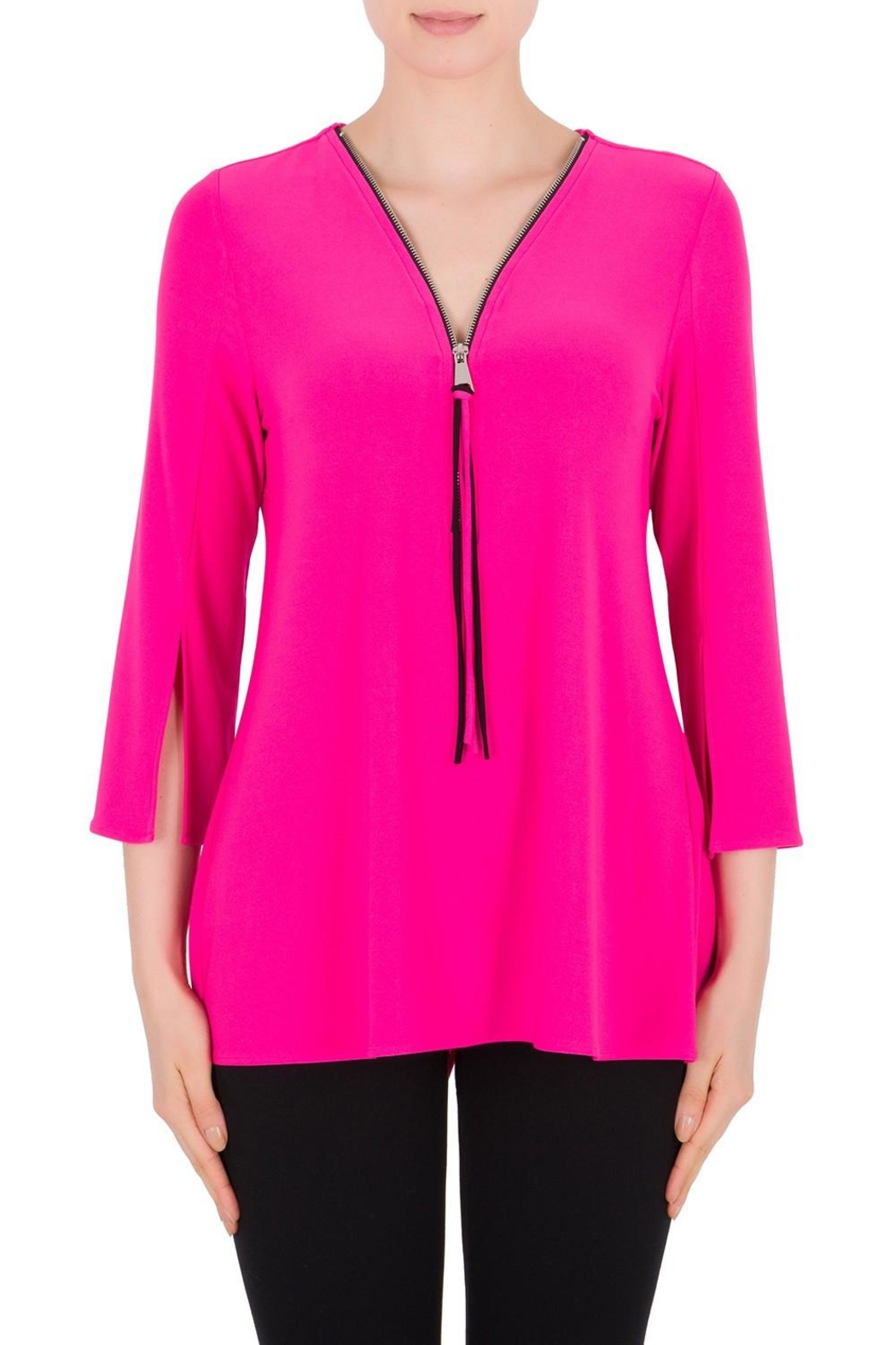 Joseph Ribkoff Neon Pink Top - Front Cropped Image