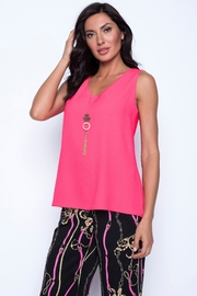 Frank Lyman Neon Pink Woven Top - Product Mini Image
