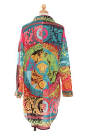 R+D emporium  Neon Printed Shirt Dress - Front full body