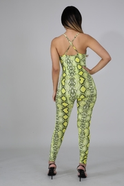 Good Time Neon Python Jumpsuit - Front full body