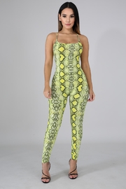 Good Time Neon Python Jumpsuit - Front cropped