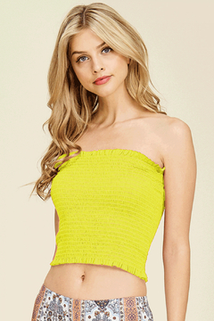 Shoptiques Product: Neon Smocked Tube Top