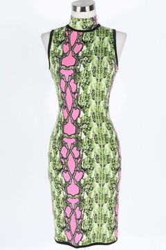 Fashion Queen  Neon Snakeskin Dress - Product List Image