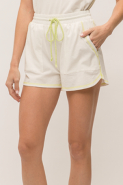 Mystree Neon Stitch Shorts - Front cropped