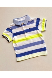 Mayoral Neon Stripe Polo - Front cropped