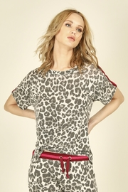 Vintage Havana Neon Stripe Side Tie Leopard Shirt - Product Mini Image
