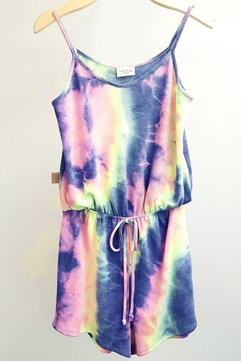 143 Story Neon Tie Dye Romper from New York City by Uniquely Yours — Shoptiques