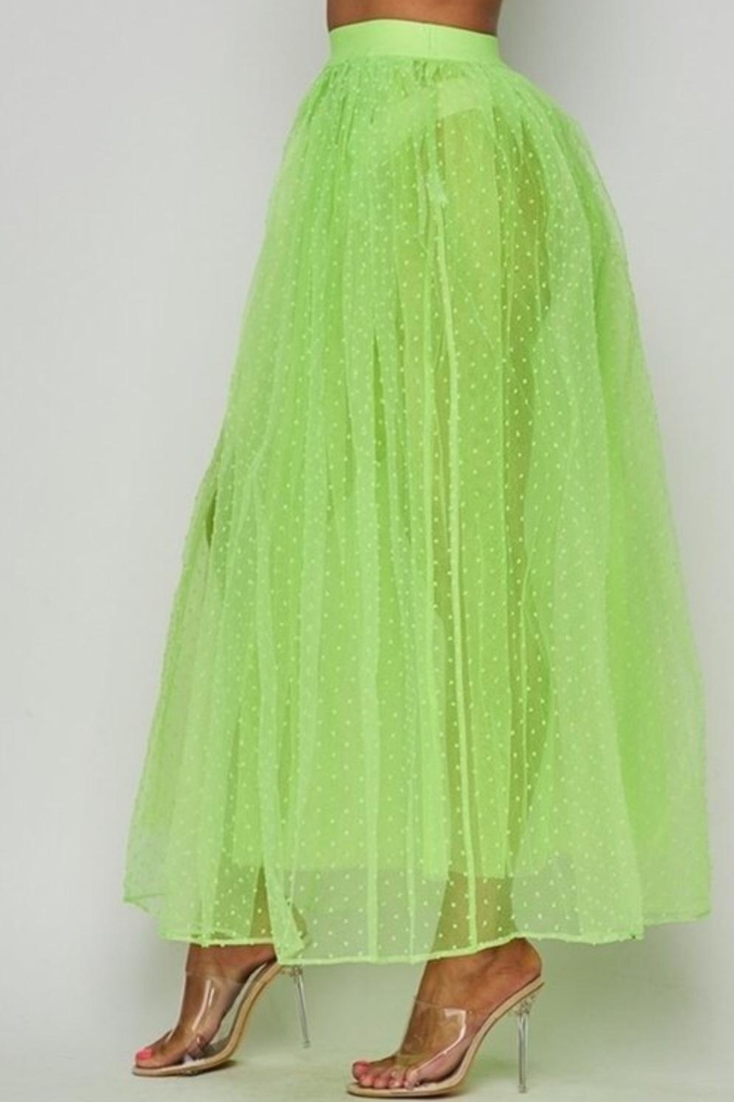 Hot & Delicious Neon Tulle Skirt - Front Full Image