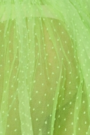 Hot & Delicious Neon Tulle Skirt - Back cropped