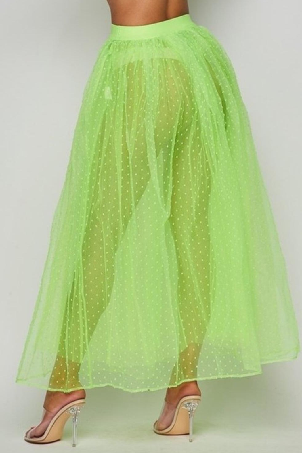 Hot & Delicious Neon Tulle Skirt - Side Cropped Image