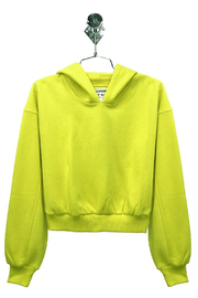 R+D  Neon Yellow Hoodie - Front cropped