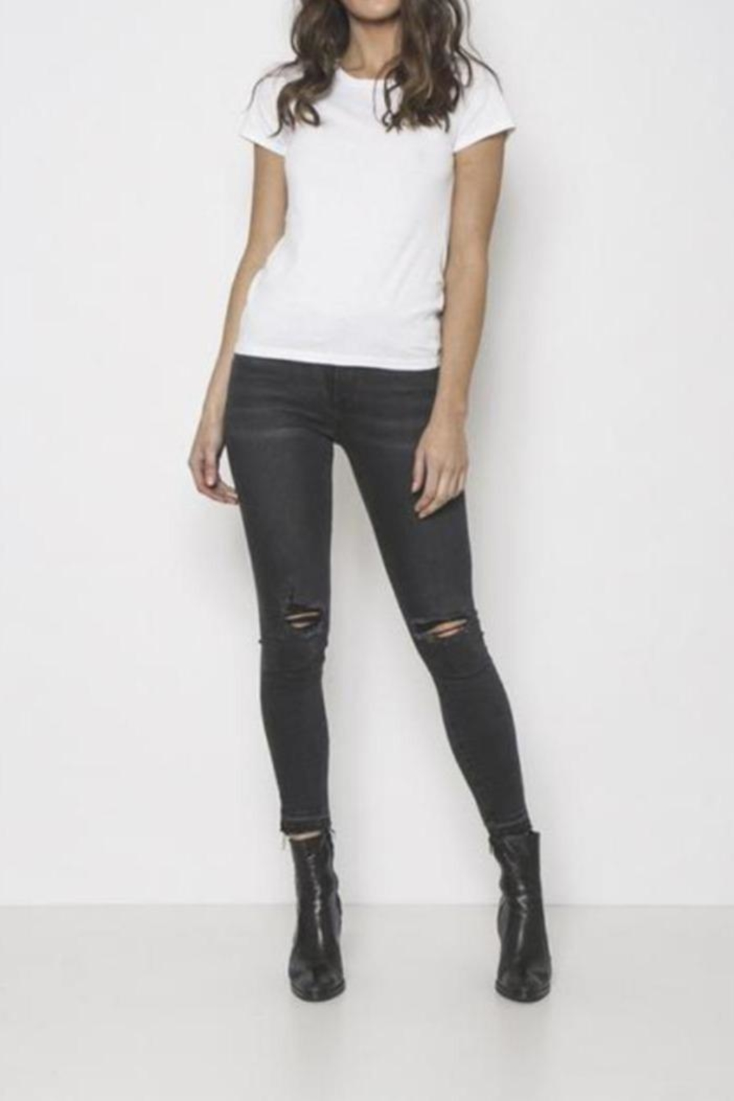 Neon Blonde Mid-Rise Skinny Jeans - Main Image