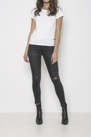 Neon Blonde Mid-Rise Skinny Jeans - Front cropped