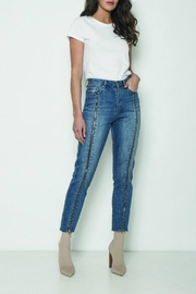 Neon Blonde Siren Zipped Jean - Product Mini Image