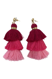 Neon Bohemians Triple Tassel Earring - Product Mini Image