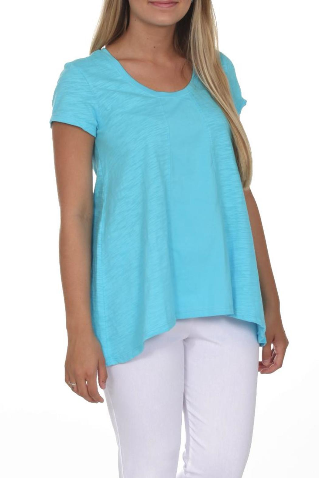 Neon Buddha Blue Casual Top - Front Cropped Image