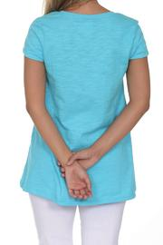 Neon Buddha Blue Casual Top - Front full body