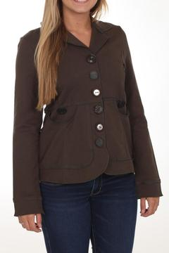 Shoptiques Product: Brown Button Jacket