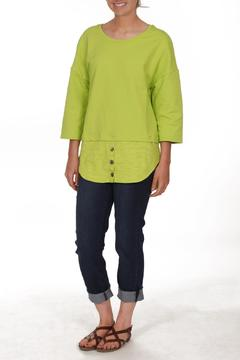Neon Buddha Green Shirttail Top - Product List Image