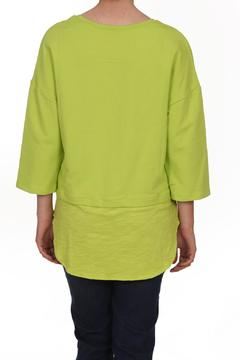 Neon Buddha Green Shirttail Top - Alternate List Image