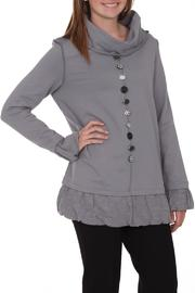 Neon Buddha Grey Cowl Tunic - Front cropped