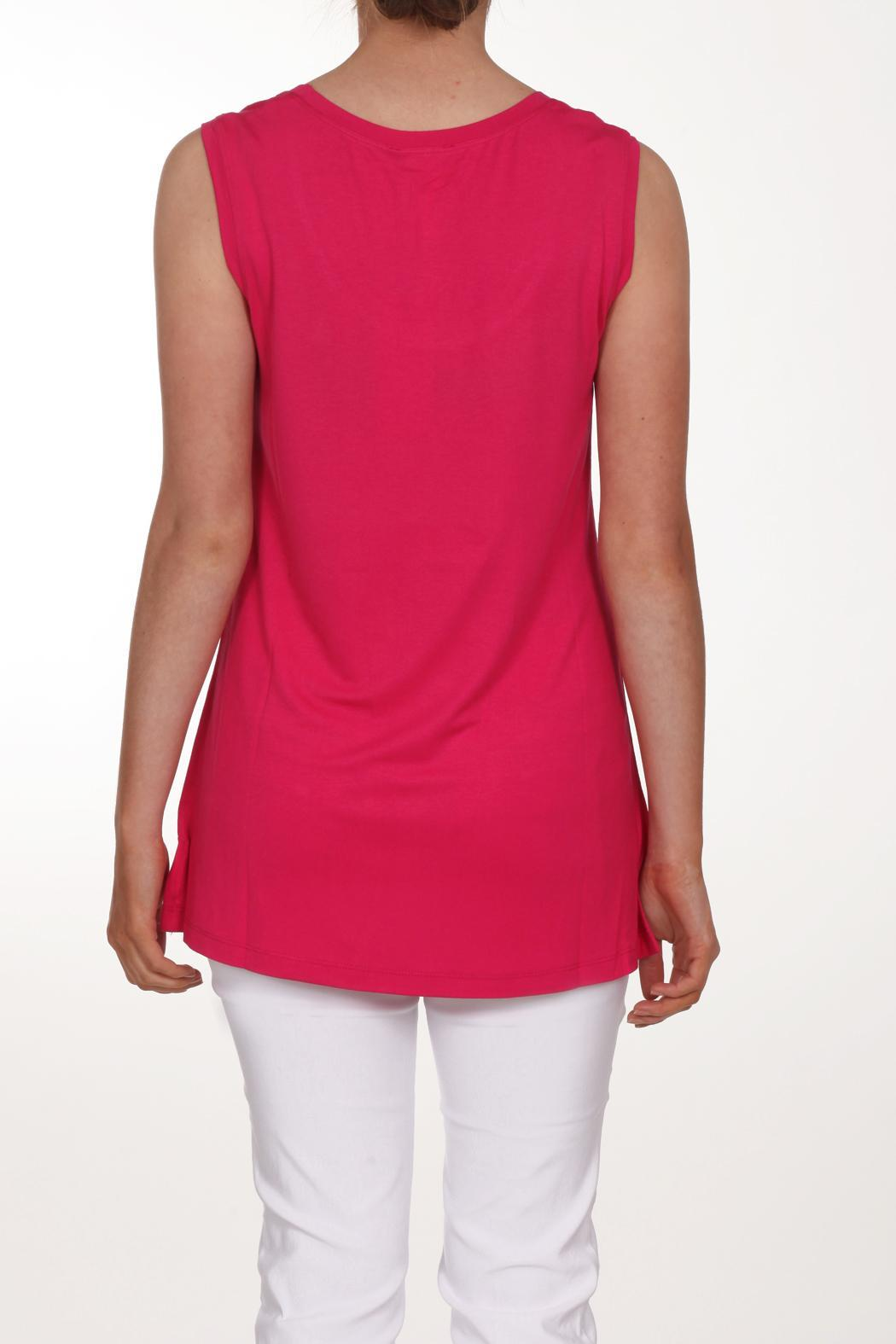 Neon Buddha Pink Sleeveless Top - Front Full Image