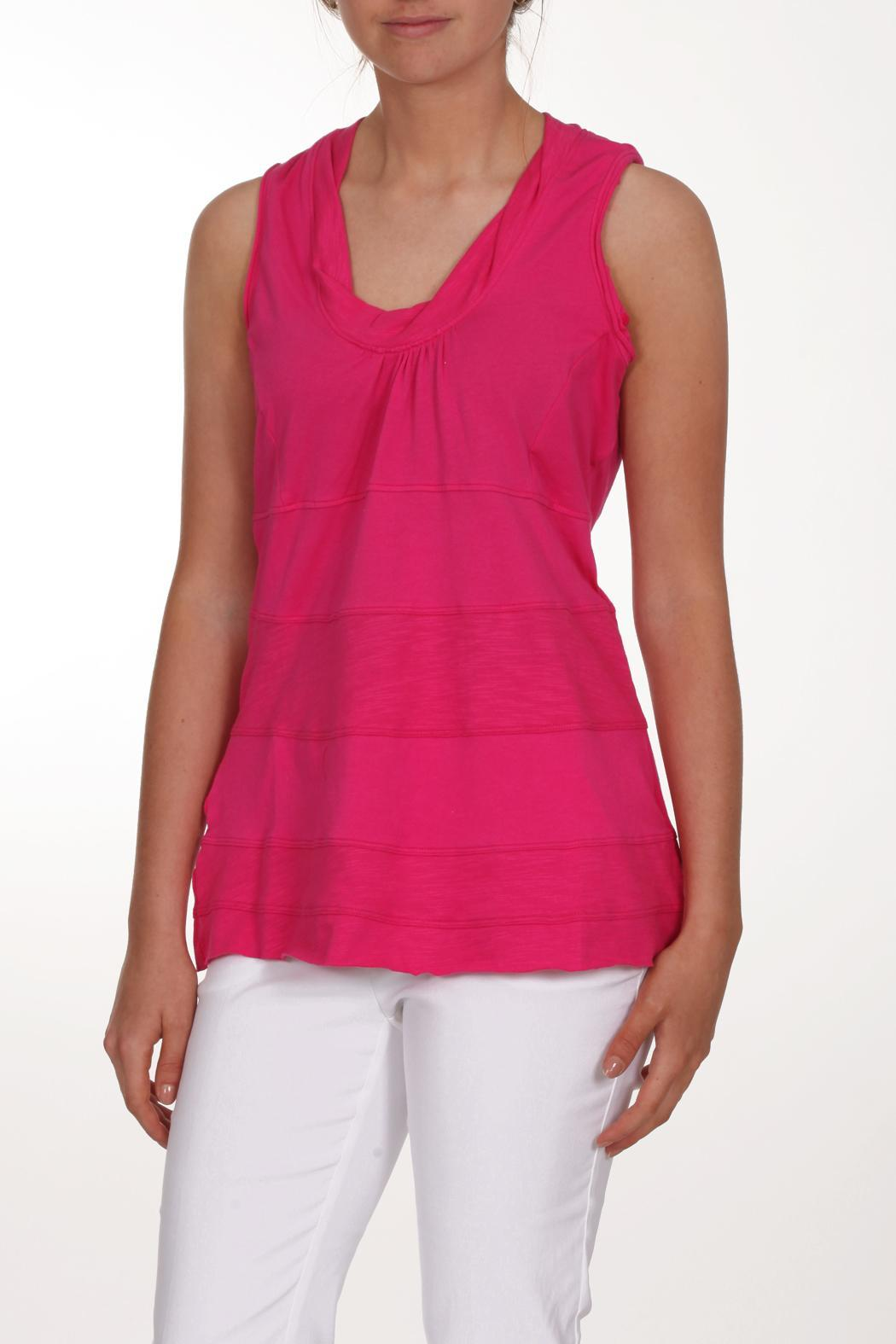 Neon Buddha Pink Sleeveless Top - Front Cropped Image