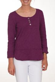 Neon Buddha Purple Button Top - Front cropped