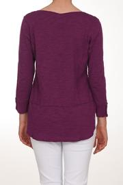 Neon Buddha Purple Button Top - Front full body